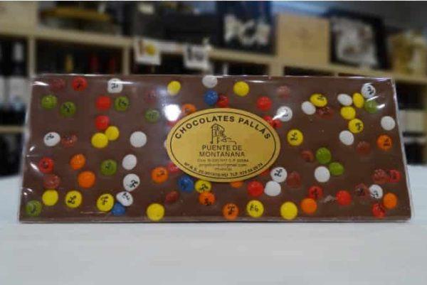 Chocolate con leche de colores (Chocolates Pallás)