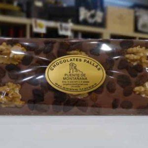 Chocolate con leche con nueces y pasas (Chocolates Pallás)