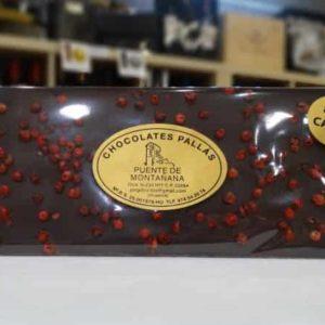 Chocolate 80% de cacao con pimienta rosa