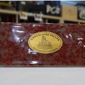 Chocolate con leche con frambruesas (Chocolates Pallás)