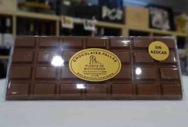 Chocolate con leche SIN azúcar (Chocolates Pallás)
