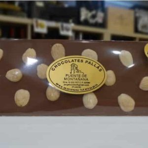 Chocolate con leche SIN azúcar con almendras (Chocolates Pallás)